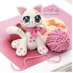 Como hacer un gatito de porcelana fria-1