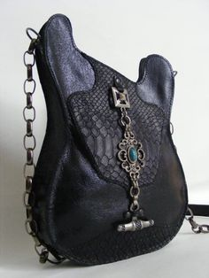 Leather purse Black Handmade Eco Sustainable by dECOnstructionLab, €87.00
