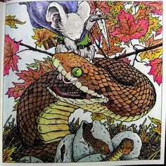 Mouse Guard colouring book by David Petersen