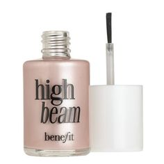 Benefit High Beam - Apply to inner corners of eyes and brow bones as well as upper lip and under eyes. Makes your face glow all over.