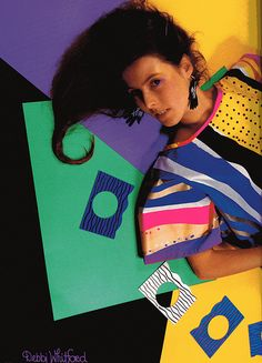 Extreme 80s hair and clothing. This picture is from the 1987 book Fashion Australia.
