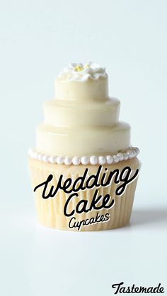 Skip the wedding cake for these vanilla cupcakes topped with cheesecake and white choc mirror glaze.