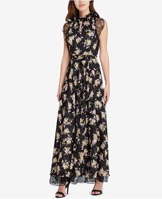 d6643c731c5 Tahari ASL Lace   Floral-Print Gown   Reviews - Dresses - Women - Macy s