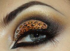 Cheetah Eye Makeup Cheetah Print Eye Art Makeup Look Fun Gorgeous Glitter Stunning. Hd Makeup, Love Makeup, Makeup Art, Makeup Tips, Beauty Makeup, Makeup Looks, Sexy Makeup, Stunning Makeup, Beauty Art