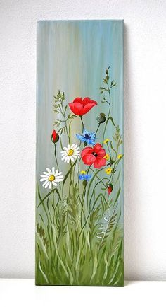 Tole Painting, Painting On Wood, Flower Line Drawings, Landscape Paintings, Flower Paintings, Oil Paintings, Painting Inspiration, Diy Art, Wood Art