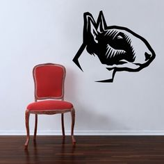 Dog Decal Bull Terrier Vinyl Sticker Decal  Good for by PSIAKREW