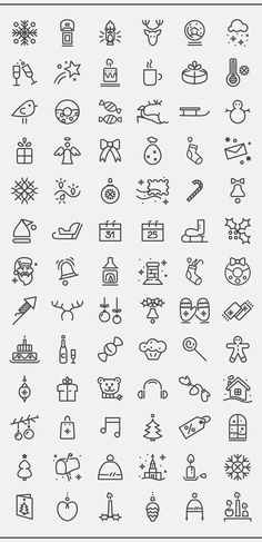 Free Christmas icon set on Behance