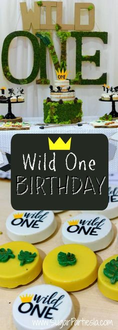 Party Style and Party Decor— SugarPartiesLA Cute Birthday Ideas, 1 Year Old Birthday Party, First Birthday Party Themes, Birthday Themes For Boys, Boy Birthday Parties, Lion Birthday, 1st Boy Birthday, Wild Ones, Wild Things