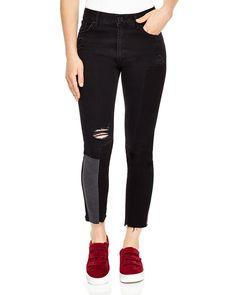 SANDRO Sandro Dorris Distressed Patchwork Jeans. #sandro #cloth #