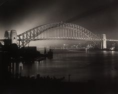 Harold Cazneaux - Opening night of Sydney Harbour Bridge, 1932