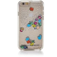 Rebecca Minkoff Liquid Glitter Emoji iPhone 7 Case (€40) ❤ liked on Polyvore featuring accessories, tech accessories, multi and rebecca minkoff