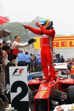 Fernando Alonso, Ferrari celebrates his second position in parc ferme | Main gallery | Photos | Motorsport.com