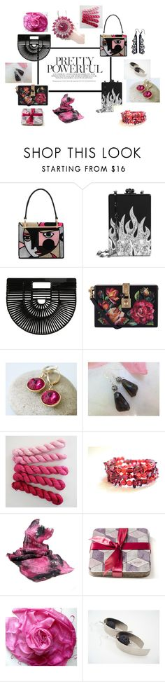"""Pretty powerful"" by valeriebaberdesigns ❤ liked on Polyvore featuring Prada, Edie Parker, Cult Gaia, Dolce&Gabbana and Scialle"