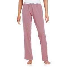 Calvin Klein Logo-Waist Pajama Pants ($50) ❤ liked on Polyvore featuring intimates, sleepwear, pajamas, element, calvin klein, calvin klein pyjamas, pj pants, calvin klein pajamas and calvin klein sleepwear