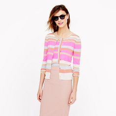 J.Crew - Collection featherweight cashmere cardigan in two-way stripe
