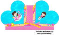 Caixa Coração Pool Party Menina