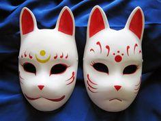 Kitsune mask 1 by Mishutka on DeviantArt Oni Mask, Skull Mask, Kitsune Maske, Japanese Fox Mask, Cool Masks, Cosplay Diy, Kawaii, Deviantart, Japanese Culture