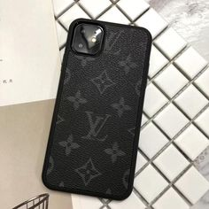 Buy Wholesale Classic Flower LV Protective Leather Back Covers Holster Cases For iPhone 11 Pro Max - Black from Chinese Wholesaler Cute Phone Cases, Iphone Phone Cases, Iphone Case Covers, Iphone 5s, Bling Phone Cases, Unique Iphone Cases, Max Black, Louis Vuitton Phone Case, Aesthetic Phone Case