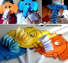да си напрвим сами маски на слон