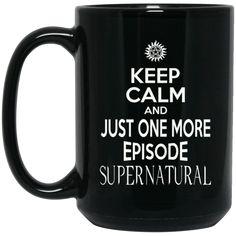 Supernatural Mug Keep Calm And Just One More Episode Winchester Coffee Mug Tea Mug Supernatural Mug Keep Calm And Just One More Episode Winchester Coffee Mug Te