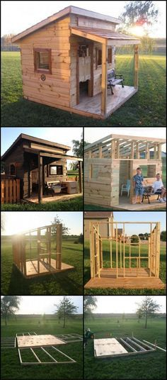 How To Build A Cubby House From Reclaimed Fence Palings theownerbuilderne. Is there any child who doesn't like a fort or cubby house to play in? This western saloon would surely never be empty! Building A Chicken Coop, Building A Shed, Building Ideas, Western Saloon, Western Wild, Cubby Houses, Cubby House Plans, Shed Plans, Outdoor Projects