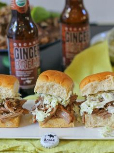 Made in Sonoma: Bison Brewing Gingerbread Ale Pulled Pork Sliders