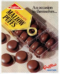 Griifins MallowPuffs - June 1972 Retro Recipes, Vintage Recipes, Vintage Advertisements, Vintage Ads, Vintage Food, Kiwiana, All Things New, Kids Growing Up, Those Were The Days