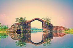 eye of the dal - Mughal Gate, Dal Lake, Srinigar, Kashmir.