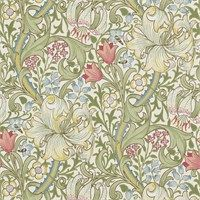 The Original Morris & Co - Arts and crafts, fabrics and wallpaper designs by William Morris & Company | Products | British/UK Fabrics and Wallpapers | Golden Lily (DM6P210398) | Morris Archive Wallpapers