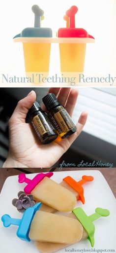 DIY Homemade teething pops. Teething remedies for baby using essential oils. Homeopathic remedies for teething.