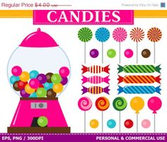 candyland clip art classic sweet shop clip art digital candy rh pinterest com candyland clipart printable candyland clipart free