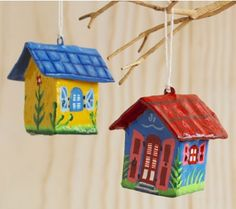 proceeds of these colorful ornaments, indicative of Haitian art, go to rebuilding permanent housing after earthquake