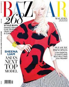 Asia's Next Top Model winner, Sheena covers Malaysian Harpers (May 14). Ph: Chuan Looz