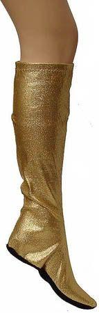 Vintage 60s Gold Legging Boot NOS
