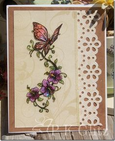 stunning card. I love these art acetate butterflies and flowers. Never heard of PK Glitz however.