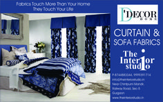 Interior decoration Products, like Wall Coverings, Window Blinds, Curtains & Rods, D'Decor Fabric, Wooden Flooring, Wall paneling in gurgaon