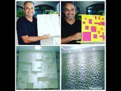 DIY - COMO FAZER PLACA DE GESSO 3D BARATO FORMA MOSAICO 3D AQUISEFAZAQUINAOPAGA - YouTube