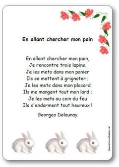 Comptine En allant chercher mon pain Teaching Language Arts, Learn A New Language, Teaching French, Prom Songs, French Poems, French Classroom, School Sets, French Resources, French Tips