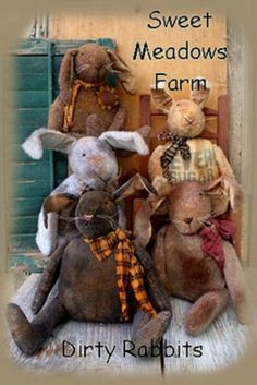 Primitive-Pattern-Dirty-Rabbits-Make-a-bunch-for-your-primitive-home-Adorable