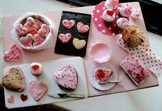 Dollhouse miniature Valentines baking
