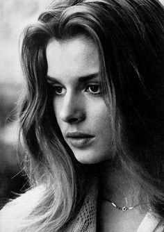 Nastassja Kinski face, black and white