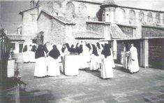 Terraza del Monasterio de Santa Catalina de Siena, antes de ser desmontado piedra a piedra