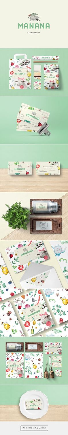 MANANA restaurant identity packaging branding on Behance by BUREAU BUMBLEBEE curated by Packaging Diva PD. New cozy & delicious place to eat : )