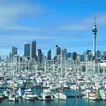 Print of Westhaven Marina & City Skyline, Auckland, Northland, North Island, New Zealand Moving To New Zealand, New Zealand Travel Guide, Work In Australia, Australia Travel, Marina City, New Zealand Cities, New Zealand Holidays, Nova, Auckland New Zealand