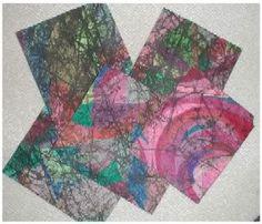Crayon Batik - PAPER CRAFTS, SCRAPBOOKING & ATCs (ARTIST TRADING CARDS)