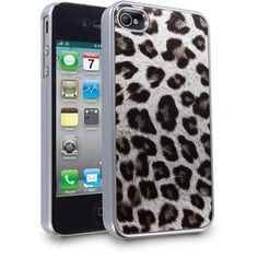 cellairis leopard glitz case for apple iphone 4/4s silver ($35) ❤ liked on Polyvore featuring accessories and tech accessories