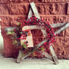 Primitive Christmas Wreath!