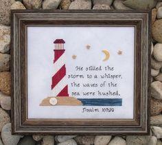 Lighthouse Psalm - Cross Stitch Pattern