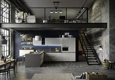 Cocina moderna / de melamina / de roble / lacada JOY SNAIDERO #casasmodernasinteriores