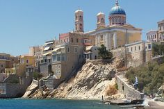 Island of Syros, Greece. Places Around The World, Oh The Places You'll Go, Great Places, Places To Travel, Beautiful Places, Places To Visit, Around The Worlds, Vacation Destinations, Dream Vacations
